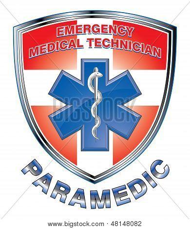 Escudo de Design-medicina paramédico EMT