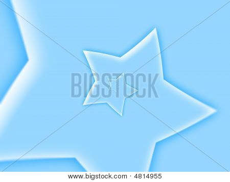 Blue Star Shape Background