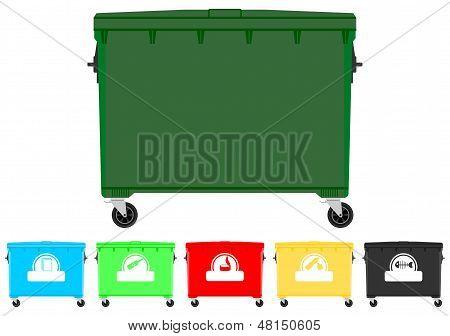 Recycling Bins Set