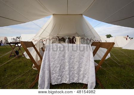 Dining Area Of 1812 Tent
