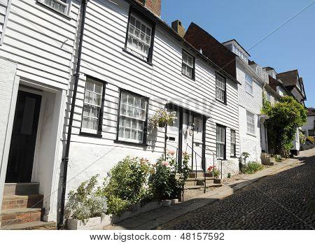 Village cottages. Rye West Sussex.