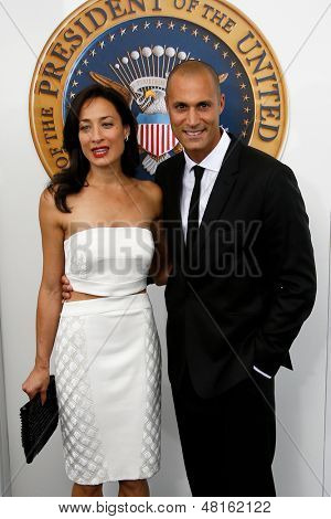 NEW YORK-JUNE 25: Cristen Barker and photographer Nigel Barker (R) attend the premiere of