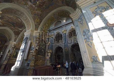 Interior Of Jesuits Church In Lvov.