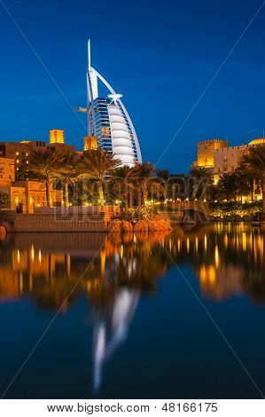 View Of The Hotel Burj Al Arab From Souk Madinat Jumeirah