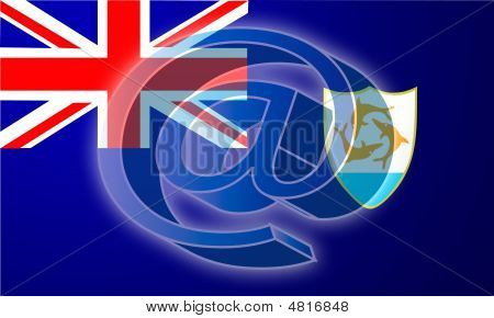 Flag Of Anguilla Internet Illustration