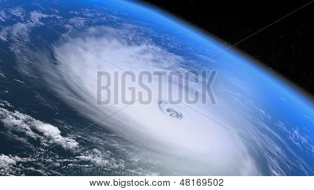 Giant Storm Seen From The Space