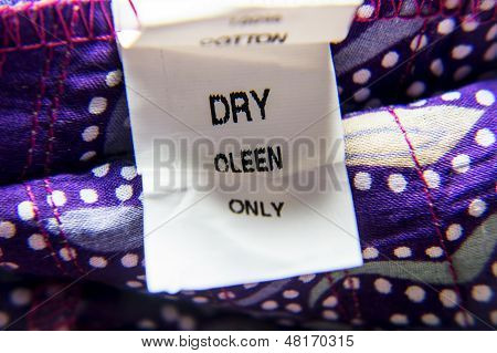 Wrong Tag For Dry-cleaning