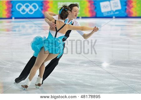 INNSBRUCK, AUSTRIA - JANUARY 17 Millie Paterson and Edward Carstairs (Great Britain) place 11th in the pairs ice dance event on January 17, 2012 in Innsbruck, Austria.