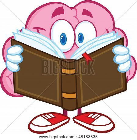 Smiling Brain Character Reading A Book