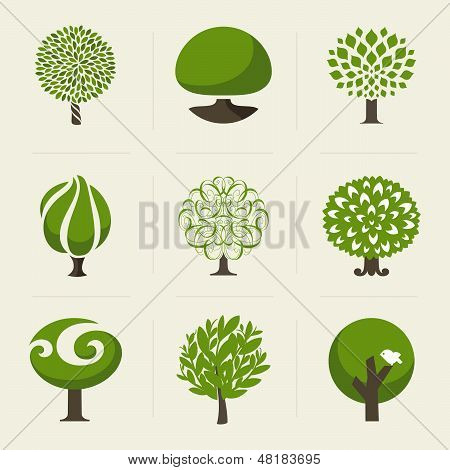 Tree. Collection Of Design Elements