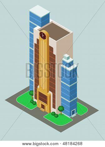 Edificio isométrica