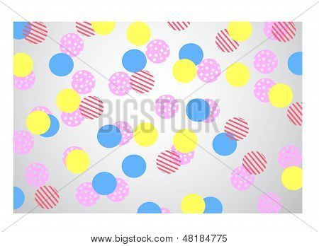 multi colour Polka Dots