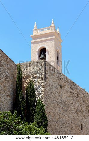 Torreon De La Pezza Ancient Fortified Wall And The Tower Bell Of Parish Church Nuestra Se�ora D