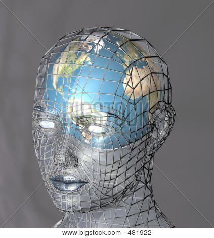 Cabeça de um globo de habitação
