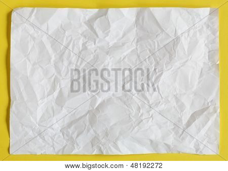 Crimp White Paper Texture Sheet