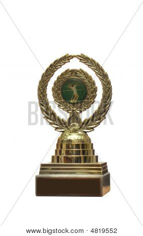 Trophy With Tennis Emblem