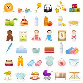 image of baby diapers  - Big Vector set - JPG