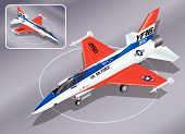 stock photo of fighter plane  - Detailed Isometric Vector Illustration of F - JPG
