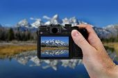 Camera Picture Teton Mountains