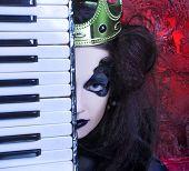 stock photo of evil queen  - Mad queen - JPG