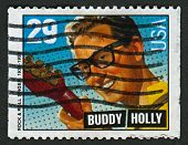 US - CIRCA 1993: A stamp printed in US shows image of the Charles Hardin Holley, known professionall