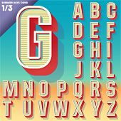 stock photo of condensation  - Vector retro alphabet for Summer typography design - JPG