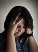 pic of ordinary woman  - Portrait of a depressed women - JPG