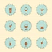 Vector alcohol icons