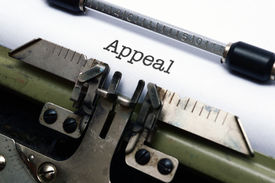 picture of pronunciation  - Close up of Appeal text on typewriter - JPG