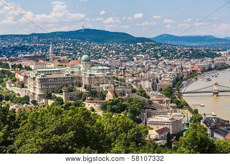 Budapest Royal Palace Morning View.
