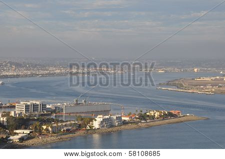 View of San Diego Bay from Point Loma