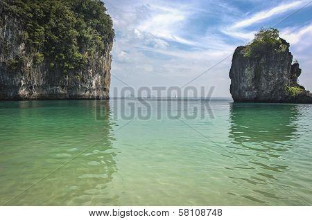 Andaman Sea Beach In Phiphi Island, Turistic Paraise In Thailand