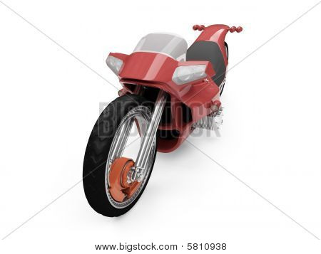 Future Red Bike Isolated View