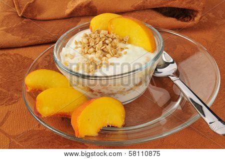 Greek Yogurt With Peaches