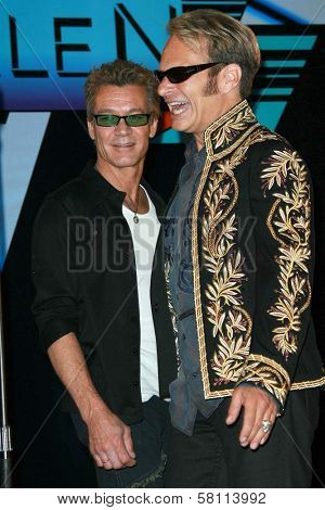 Eddie Van Halen and David Lee Roth at the Van Halen Reunion Tour Press Conference. Four Seasons Hotel, Los Angeles, CA. 08-13-07