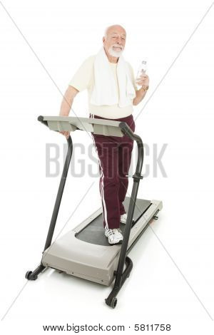 Senior Man At Health Club