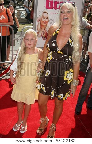 Genevieve Chappell and daughter at the Los Angeles premiere of