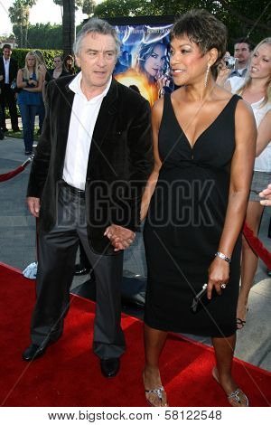 Robert De Niro and Grace Hightower at the Los Angeles Premiere of