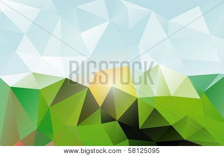 Abstract Triangluar Background