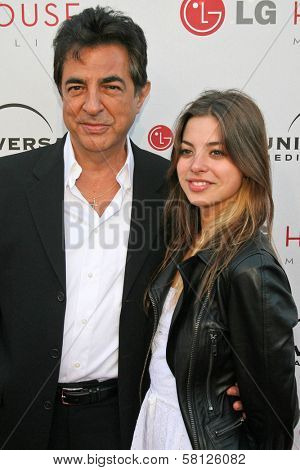 Joe Mantegna and daughter Gina Mantegna at the Universal Media Studios Emmy Party. LG House, Malibu, CA. 08-02-07