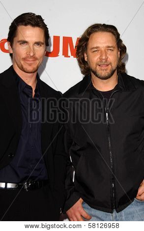 Christian Bale and Russell Crowe at the