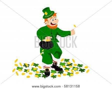 leprechaun coin clover