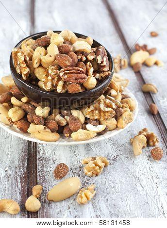 Mixed Nuts - Hazelnuts, Walnuts, Almonds, Cashews, Brazil Nuts And Pecan Nuts
