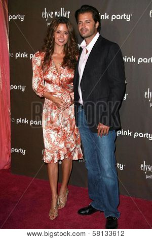 Brooke Burke and David Charvet at the 3rd Annual Pink Party benefiting Cedars-Sinai Women's Cancer Research Institute. Viceroy Hotel, Santa Monica, CA. 09-08-07