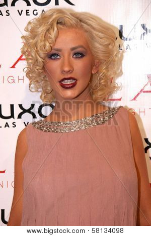 Christina Aguilera at the pre-VMA party hosted by Christina Aguilera. LAX Night Club, Las Vegas, NV. 09-08-07