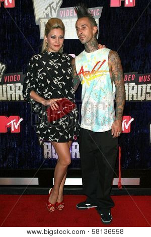 Shanna Moakler and Travis Barker arriving at the 2007 MTV Video Music Awards. The Palms Hotel And Casino, Las Vegas, NV. 09-09-07