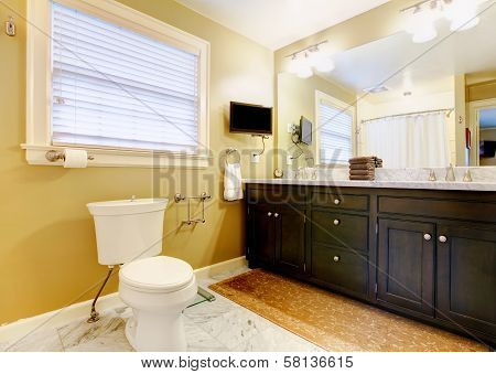 Modern Bathroom With Tv