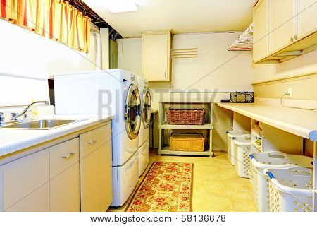 Big Old Style Laundry Room