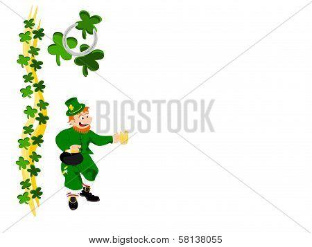 leprechaun beer ribbon clover