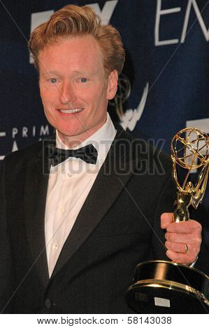 Conan O'Brien in the press room at the 59th Annual Primetime Emmy Awards. The Shrine Auditorium, Los Angeles, CA. 09-16-07